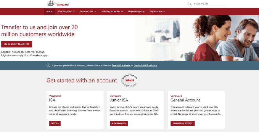 Vanguard website