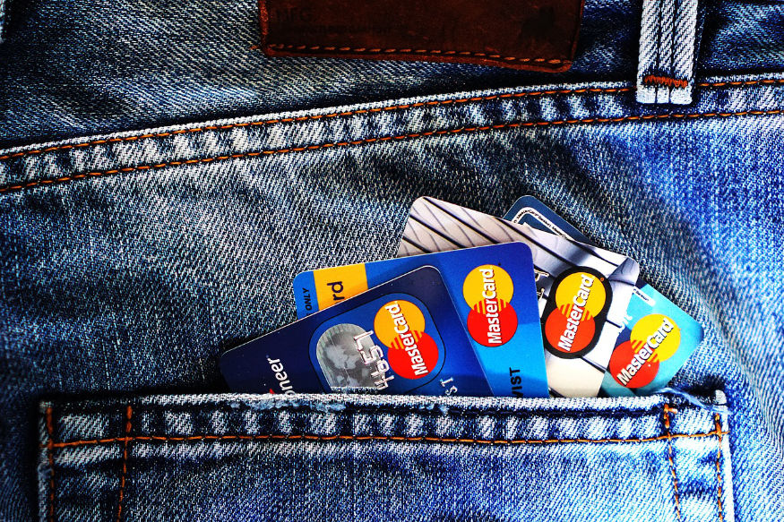 credit cards in a back pocket