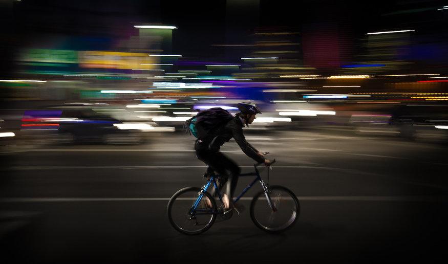 man on a bike