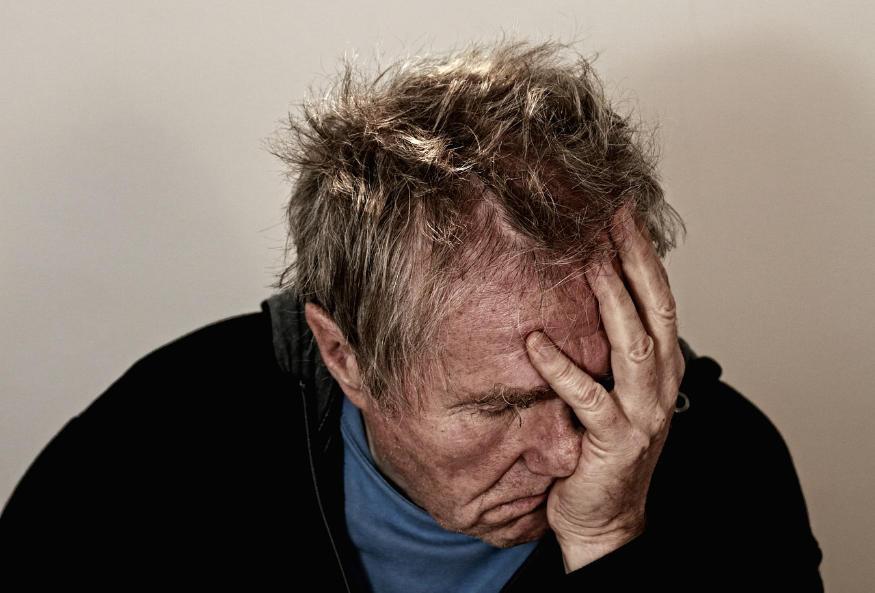imagine care arată bărbatul deprimat