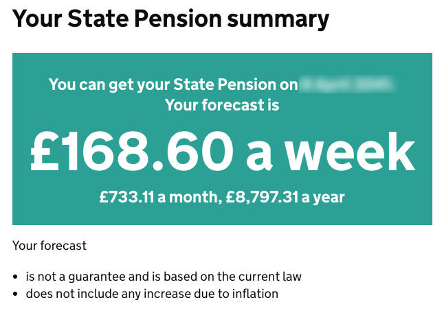 State pension summary